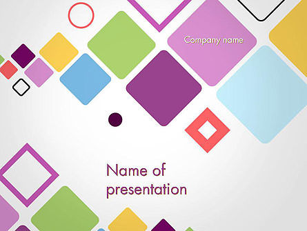 Abstract/Textures: Flying Square Shapes Abstract PowerPoint Template #14452