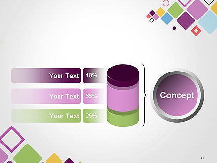Flying Square Shapes Abstract PowerPoint Template Slide 11