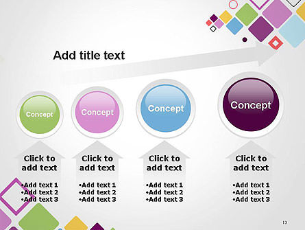 Flying Square Shapes Abstract PowerPoint Template Slide 13