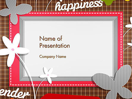 Holiday/Special Occasion: Frame Design for Baby Photo and Memories PowerPoint Template #14453