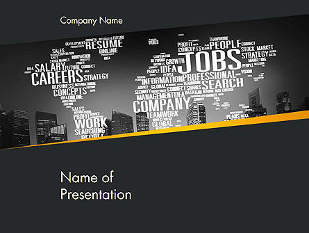 Careers/Industry: Global Careers Concept PowerPoint Template #14454