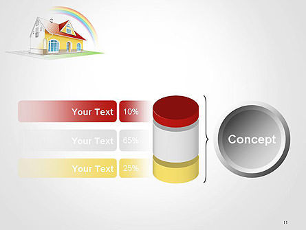 House From Sketch to Colorful Reality PowerPoint Template Slide 11