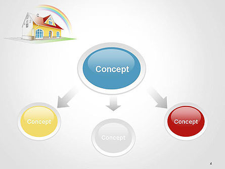 House From Sketch to Colorful Reality PowerPoint Template, Slide 4, 14455, Construction — PoweredTemplate.com