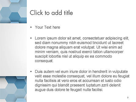 Hexagonal Mosaic Abstract PowerPoint Template, Slide 3, 14457, Abstract/Textures — PoweredTemplate.com