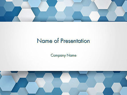Abstract/Textures: Hexagonal Mosaic Abstract PowerPoint Template #14457
