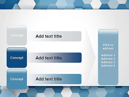 Hexagonal Mosaic Abstract PowerPoint Template Slide 12