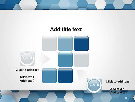 Hexagonal Mosaic Abstract PowerPoint Template Slide 16