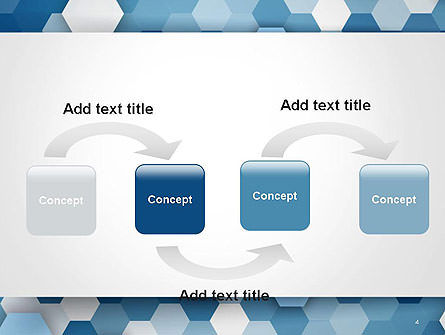 Hexagonal Mosaic Abstract PowerPoint Template Slide 4