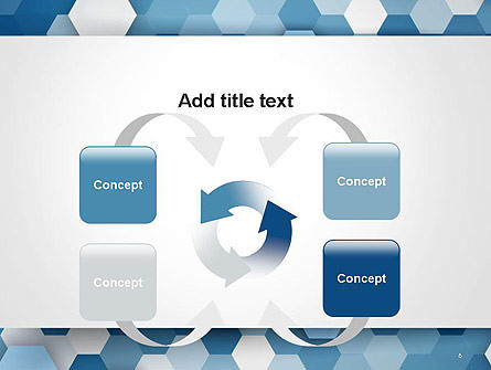 Hexagonal Mosaic Abstract PowerPoint Template Slide 6