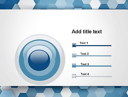 Hexagonal Mosaic Abstract PowerPoint Template Slide 9