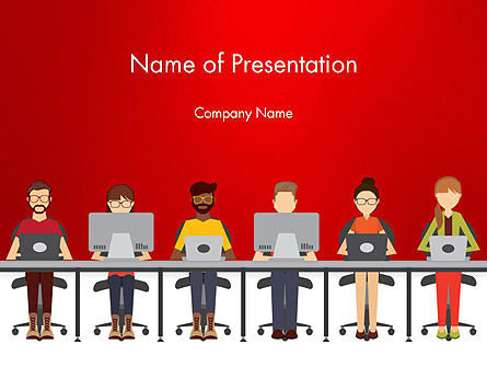 Coworking Office Space Powerpoint Template Backgrounds
