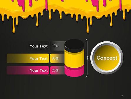 Dripping CMYK Paint PowerPoint Template Slide 11