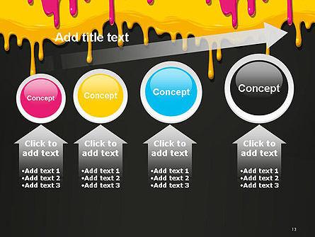 Dripping CMYK Paint PowerPoint Template Slide 13