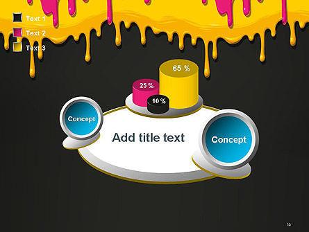 Dripping CMYK Paint PowerPoint Template Slide 16