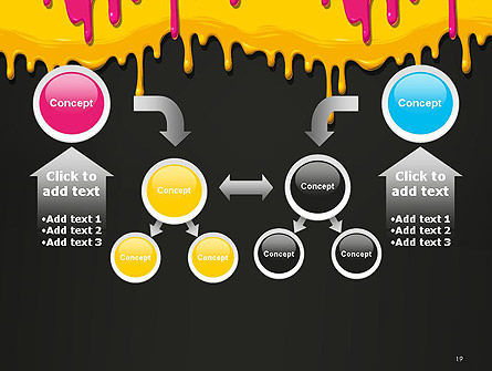 Dripping CMYK Paint PowerPoint Template Slide 19