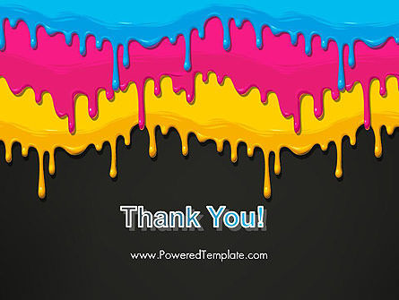 Dripping CMYK Paint PowerPoint Template Slide 20