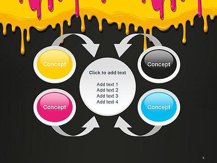 Dripping CMYK Paint PowerPoint Template Slide 6