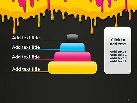 Dripping CMYK Paint PowerPoint Template Slide 8