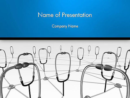 Doctor Network PowerPoint Template, 14460, Medical — PoweredTemplate.com