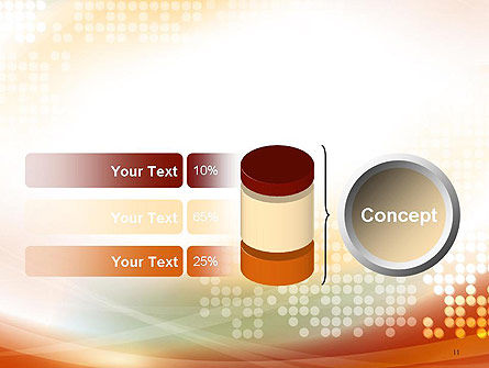 Abstract Smooth Flow and Dot Pattern Background PowerPoint Template Slide 11