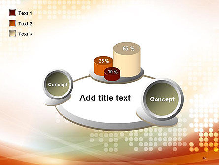 Abstract Smooth Flow and Dot Pattern Background PowerPoint Template Slide 16