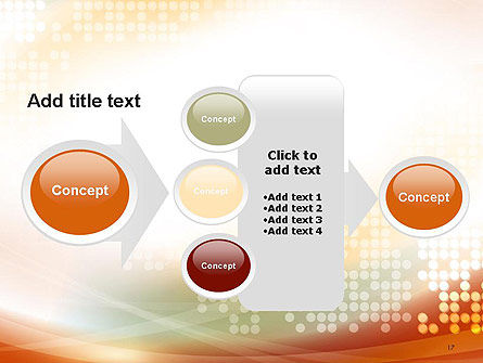 Abstract Smooth Flow and Dot Pattern Background PowerPoint Template Slide 17