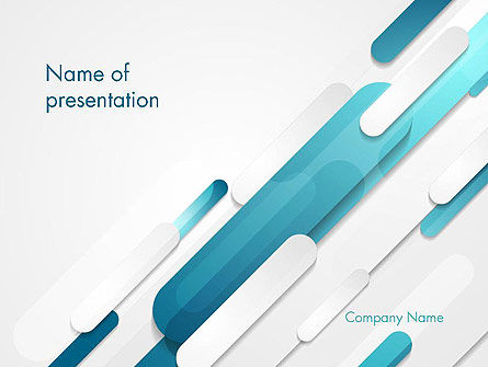 Abstract Blue Grey Geometric Tech PowerPoint Template, 14462, Abstract/Textures — PoweredTemplate.com
