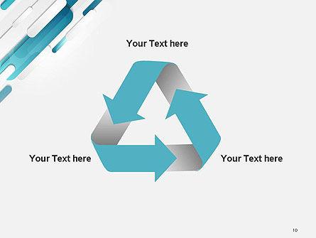 Abstract Blue Grey Geometric Tech PowerPoint Template Slide 10