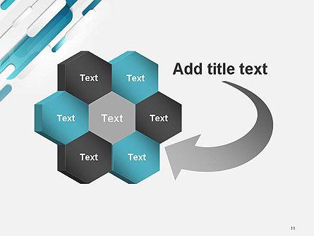 Abstract Blue Grey Geometric Tech PowerPoint Template Slide 11