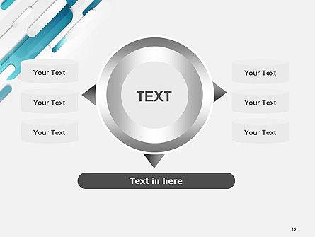 Abstract Blue Grey Geometric Tech PowerPoint Template Slide 12