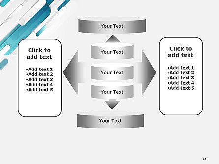 Abstract Blue Grey Geometric Tech PowerPoint Template Slide 13