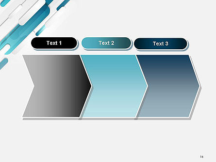 Abstract Blue Grey Geometric Tech PowerPoint Template Slide 16