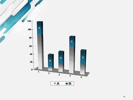 Abstract Blue Grey Geometric Tech PowerPoint Template Slide 17