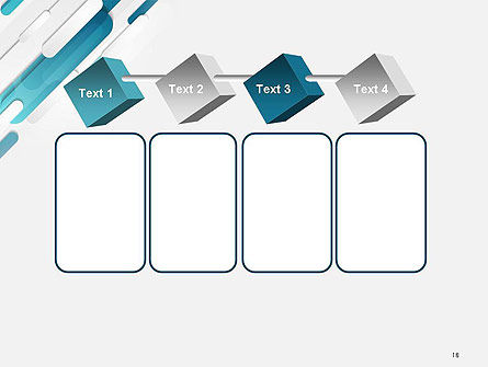 Abstract Blue Grey Geometric Tech PowerPoint Template Slide 18