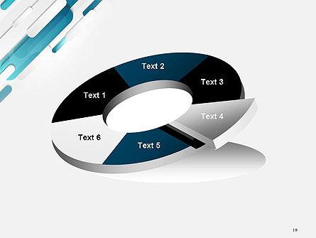 Abstract Blue Grey Geometric Tech PowerPoint Template Slide 19