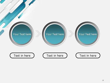 Abstract Blue Grey Geometric Tech PowerPoint Template Slide 5