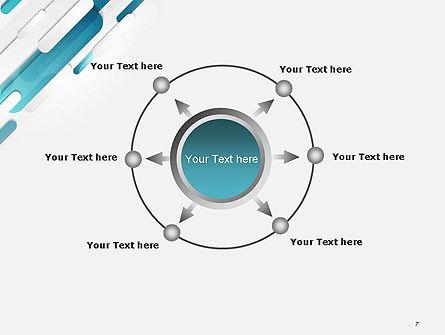 Abstract Blue Grey Geometric Tech PowerPoint Template Slide 7