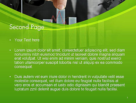 Businessman Hand Pulling Upwards Column of Graph PowerPoint Template, Slide 2, 14463, Financial/Accounting — PoweredTemplate.com