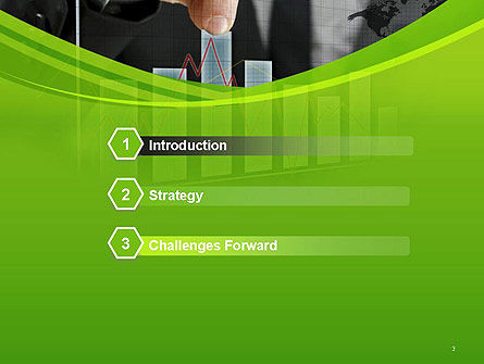 Businessman Hand Pulling Upwards Column of Graph PowerPoint Template, Slide 3, 14463, Financial/Accounting — PoweredTemplate.com