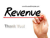 Hand Writing Revenue with Marker PowerPoint Template#20