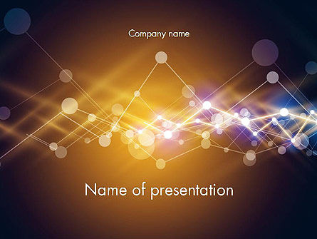 Abstract/Textures: Connected Dots Abstract Geometric PowerPoint Template #14466