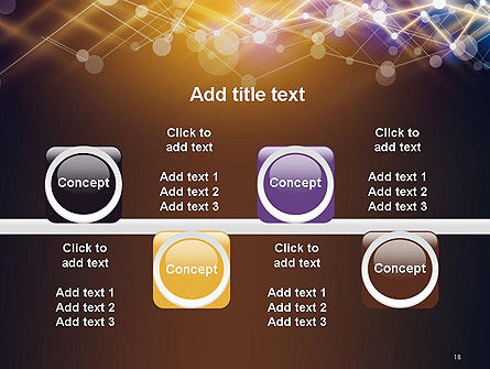 Connected Dots Abstract Geometric PowerPoint Template Slide 18