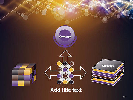 Connected Dots Abstract Geometric PowerPoint Template Slide 19