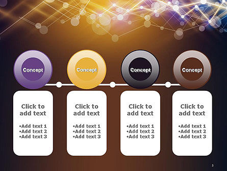 Connected Dots Abstract Geometric PowerPoint Template Slide 5