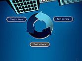 Skyscraper View From Below PowerPoint Template#9