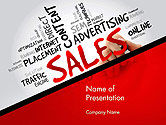 Consulting: Sales Word Cloud PowerPoint Template #14468