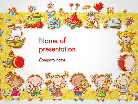 Frame with cartoon children toys and candy powerpoint template frame with cartoon children toys and candy powerpoint template 14470 education training toneelgroepblik Images