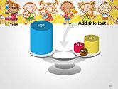 Frame with Cartoon Children Toys and Candy PowerPoint Template#10