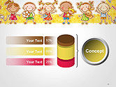 Frame with Cartoon Children Toys and Candy PowerPoint Template#11