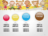 Frame with Cartoon Children Toys and Candy PowerPoint Template#13